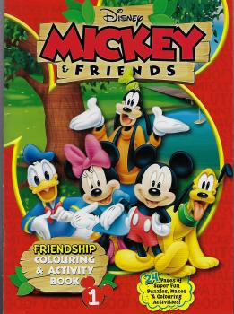 Mickey & Friends Friendship Colouring & Act Book 1