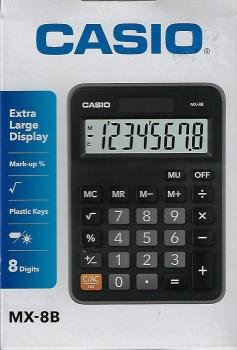 Casio Mini Deskto Calculator (Mx-8b)