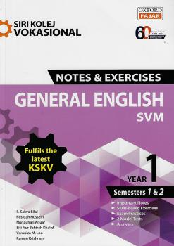 Siri Kolej Vokasional Nota & Exercises General English SVM Year 1(Semesters 1&2)