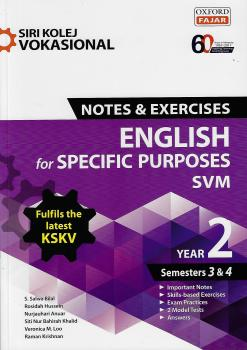 Siri Kolej Vokasional Nota & Exercises English For Specific Purposes SVN Year 2 (Semesters 3&4)
